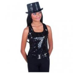 Body Wrappers Sparkling Sequins Top Hat