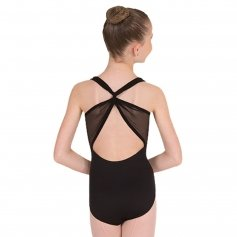 Body Wrappers Sweetheart Mesh Accent Leotard
