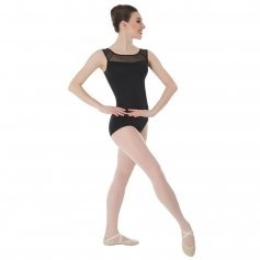 Black Body Wrappers / Tiler Peck Designs Dotted Yoke Leotard