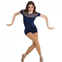 Body Wrappers P1206 Illusion Neckline Boy-Cut Leotard