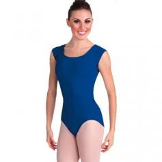 Body Wrappers Cap Sleeve Asymmetrical Keyhole Back Leotard