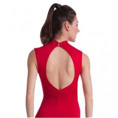Body Wrappers / Premiere Adult Hi-Neck Asymmetrical Leotard