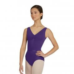 Capezio Adult V-Neck Pinch Front Leotard W/Belt