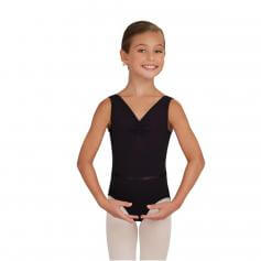 Capezio Child V-Neck Pinch Front Leotard W/Belt