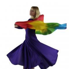 Rainbow Praise Dance Silk Scarf