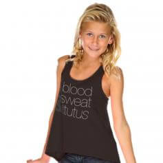 """Covet Child """"Blood Sweat and Tutus"""" Tank Top"""