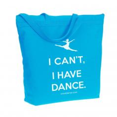 "Covet ""I Can't I Have Dance"" Recycled Zipper Tote Bag"