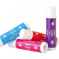 "Covet ""Keep Calm\"" Lip Balms for Dancers Set of Four"