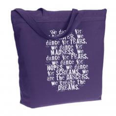 "Covet ""We are the Dancers"" Recycled Zippered Tote Bag"