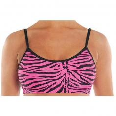 Danshuz Zebra Spandex Bra Top