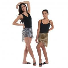 Danshuz Chiffon Zebra Wrap Skirt