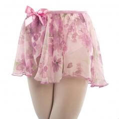 Danshuz Chiffon Flower Wrap Skirt