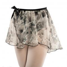 Danshuz Chiffon Flower Wrap Skirt