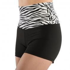 Danshuz Print High Waist with Solid Black Booty Short