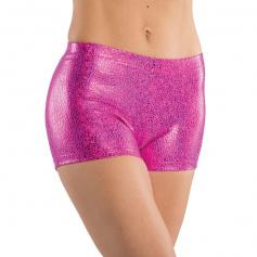 Danshuz Adult Metallic Print Booty Short