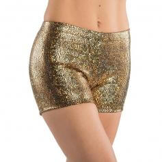 Danshuz Child Metallic Print Booty Short