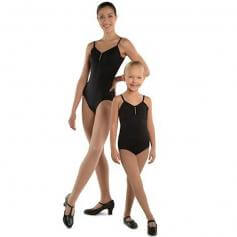 Danshuz Camisole Leotard with Rhinestone