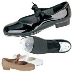 Danshuz Child Tap Shoes with Ribbon Tie