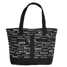 Danshuz Black Dance Font Tote Bag