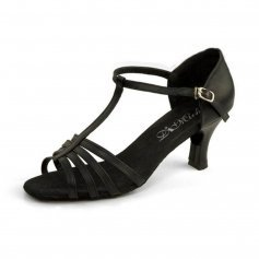 "DiMichi Adult ""KiKi\"" Leather Multi-strap Open-toe Ballroom Shoe"