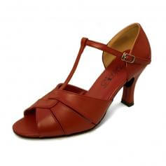 "DiMichi Adult ""Desiree"" 2 1/2"" Heel Leather Open-toe Ballroom Shoe"