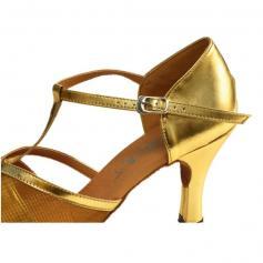 "DiMichi Adult \""Celine\"" Mesh Open-Toe Ballroom Shoe"