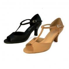 "DiMichi Adult ""Sophia"" Open-toe T-strap Ballroom Shoe"
