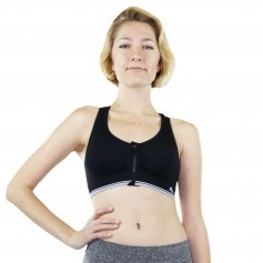 Fitcue Women's Front Zip Closure Racerback Padded Sports Bra