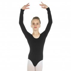 Danzcue Child Cotton Long Sleeve Ballet Cut Leotard
