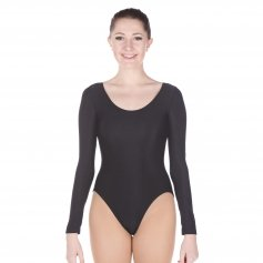 Danzcue Adult Long Sleeve Nylon Ballet Cut Leotard