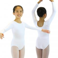 Danzcue Child Nylon Long Sleeve Ballet Cut Leotard