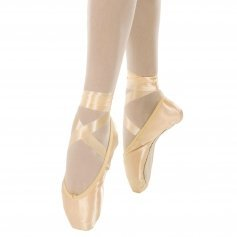 Danzcue Womens Standard Hard Shank Pointe Shoes With Ribbon