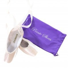 Danzcue Womens Flexible Soft Shank Pointe Shoes With Ribbon