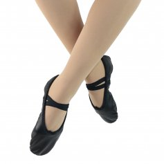 Danzcue Adult Split Sole Leather Ballet Slipper