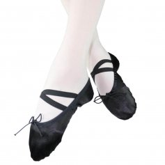 Danzcue Child Split Sole Satin Ballet Slipper