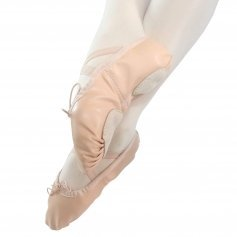 Danzcue Adult Split Sole Leather Ballet Dance Slipper