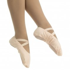 Danzcue Child Canvas Pro Elastic Split Sole Ballet Sliper