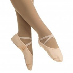 Danzcue Adult Canvas Stretch Ballet Slipper