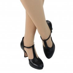 "Danzcue Adult 2.5"" Heel Footlight T-Strap Character Shoes"