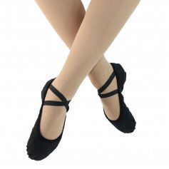 Danzcue Stretch Canvas Split Sole Ballet Slipper