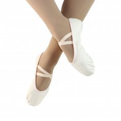 Danzcue Ballet Slipper Women\'s Canvas Split Sole Ballet Shoes
