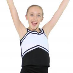Danzcue Child Sweetheart Cheerleaders Uniform Shell Top