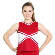 Danzcue Adult 2-Color Kick Sweetheart Cheerleaders Uniform Shell Top