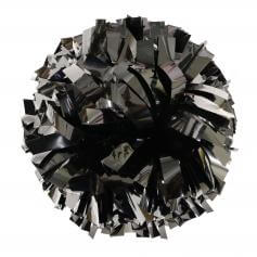 Danzcue Black Metallic Poms