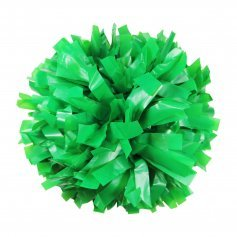 "Danzcue 1 Pair 6"" Dowel Handle Solid One Color Plastic Cheerleading Pom Poms"