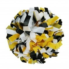 Danzcue Black/Gold/White Plastic Poms - One Pair