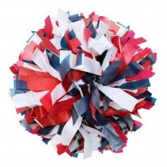 Danzcue Red/Navy/White Plastic Poms - One Pair [DQCPS03-REDNVYWHT-2]