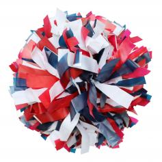 Danzcue Red/Navy/White Plastic Poms