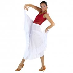 Danzcue Adult Two Ruffles Flamenco Dance Skirt