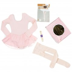 Danzcue Girls Ballet Dance Skirted Leotard Box Set